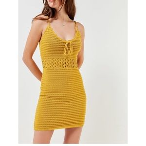 Urban outfitters crotchet yellow dress